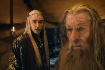 """Imagen de Ian McKellen y Lee Pace en """"El hobbit 3: la batalla de los cinco ejércitos"""" (2014)"""