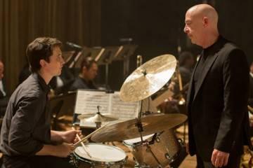 """Miles Teller y J.K. Simmons en una escena de """"Whiplash"""""""