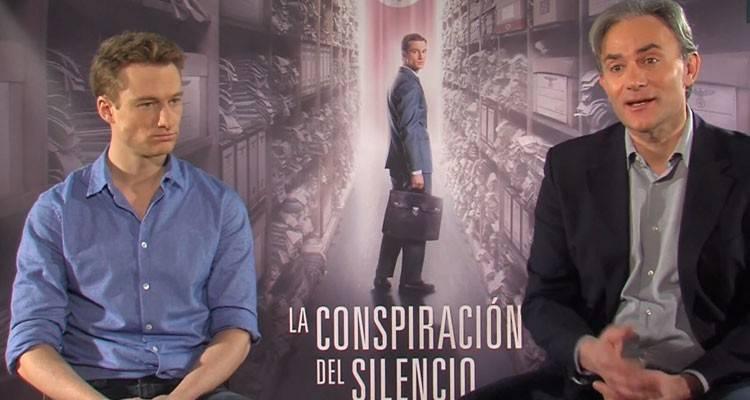 """Imagen durante la entrevista a Giulio Ricciarelli y Alexander Fehling por """"La conspiración del silencio"""" (2015)"""