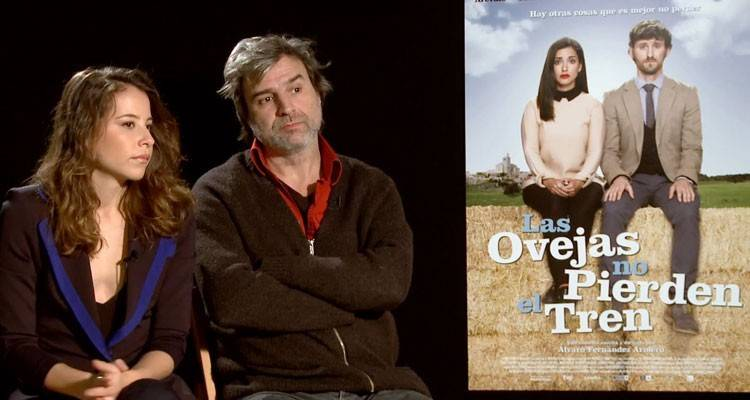 """Entrevista de la película """"Las ovejas no pierden el tren"""" (2015) con Irene Escolar y Alberto San Juan"""