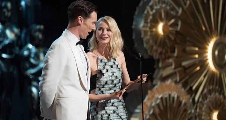 Benedict Cumberbatch y Naomi Watts encargados de entregar un Oscar ©A.M.P.A.S.