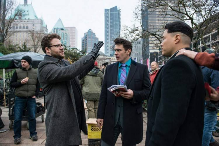 Escena del rodaje de 'The Interview'