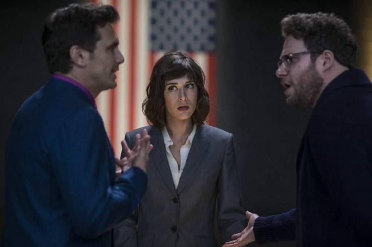 James Franco, Lizzy Caplan y Seth Rogen en 'The Interview'