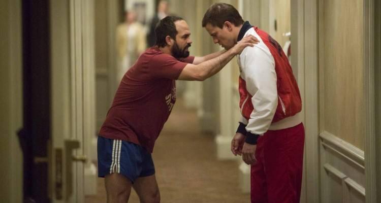El actor Mark Ruffalo (David Schultz) y Channing Tatum (Mark Schultz) - Película Foxcatcher