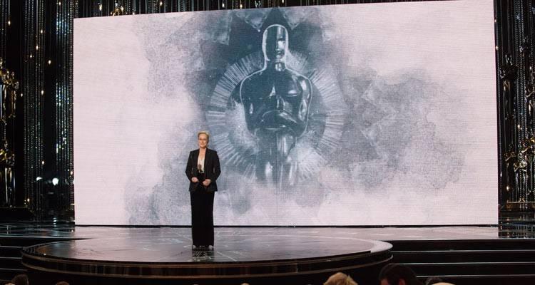Meryl Streep presentando durante la gala de Los Oscar 2015 ©A.M.P.A.S.