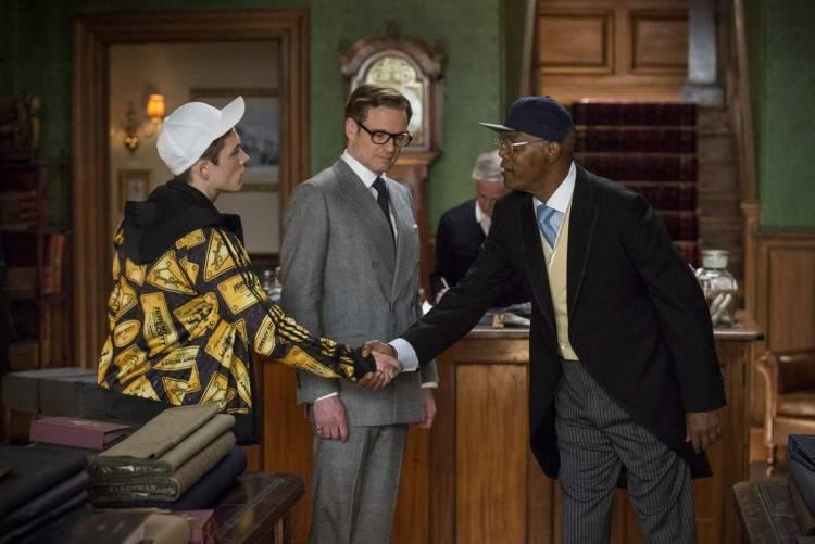Taron Egerton, Colin Firth y Samuel L. Jackson - Película Kingsman: Servicio Secreto