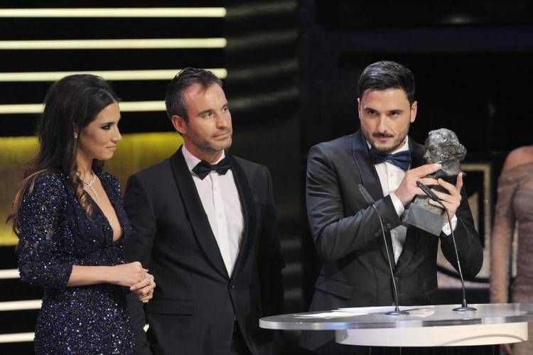 Premios Goya 2015: Mejor cancion original David Santisteban, India Martínez y Riki Rivera - Fotógrafo Alberto Ortega ®