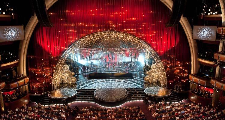 """Escenario de """"The Dolby Theatre in Hollywood"""" durante Los Oscar 2015 ©A.M.P.A.S."""