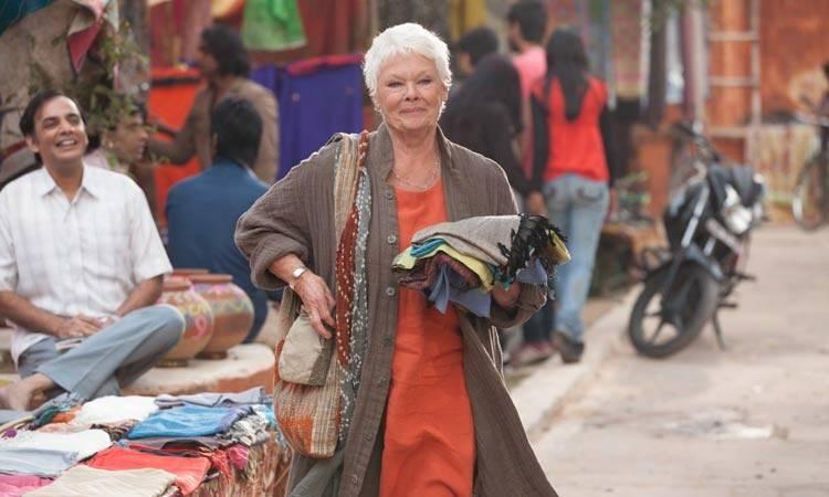 """Judi Dench en la película """"El nuevo exótico Hotel Marigold"""""""