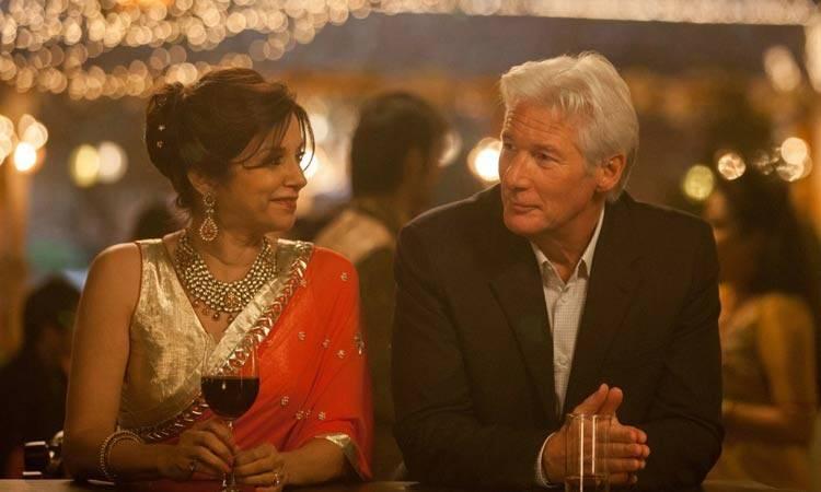 """Lillete Dubey y Richard Gere en la película """"El nuevo exótico Hotel Marigold"""""""