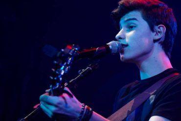 Shawn Mendes durante su primer concierto en Madrid
