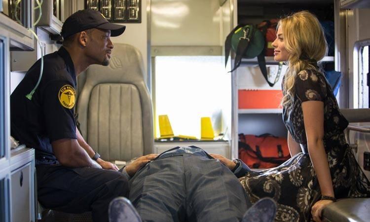 """Will Smith y Margot Robbie en la película """"Focus"""" (2015)"""