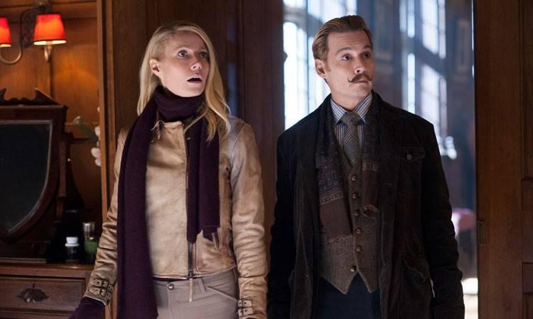 Gwyneth Paltrow y Johnny Depp en Mortdecai (2015)