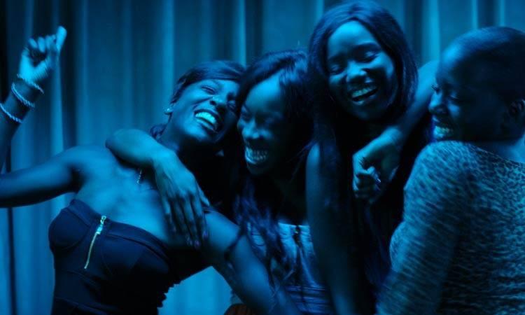"""Assa Sylla, Karidja Touré, Lindsay Karamoh, y Mariétou Touré en """"Girlhood"""""""