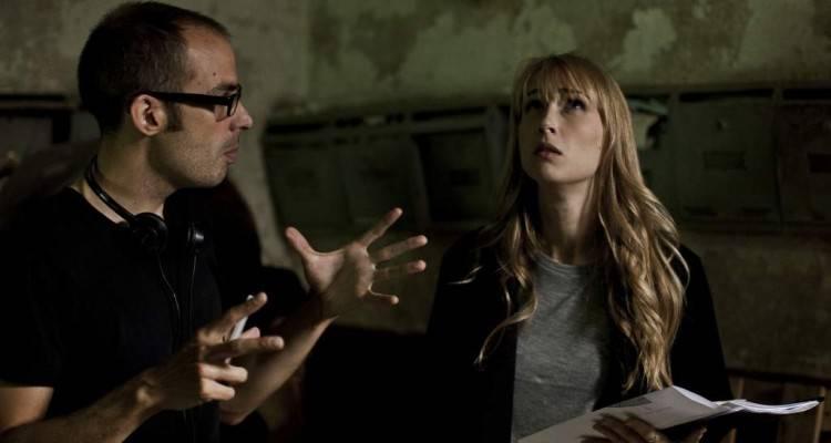 """Rafa Martínez con Ingrid García Jonsson durante el rodaje de """"Sweet home"""" (2015)"""