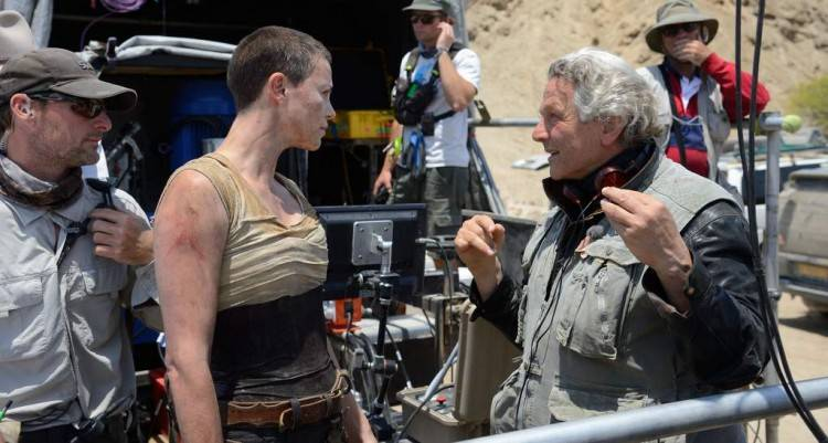 Charlize Theron y el director George Miller
