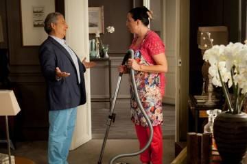 """Christian Clavier y Rossy de Palma en la película """"No molestar"""" (2015)"""
