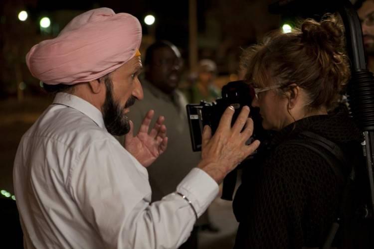 Ben Kingsley e Isabel Coixet durante el rodaje de la película