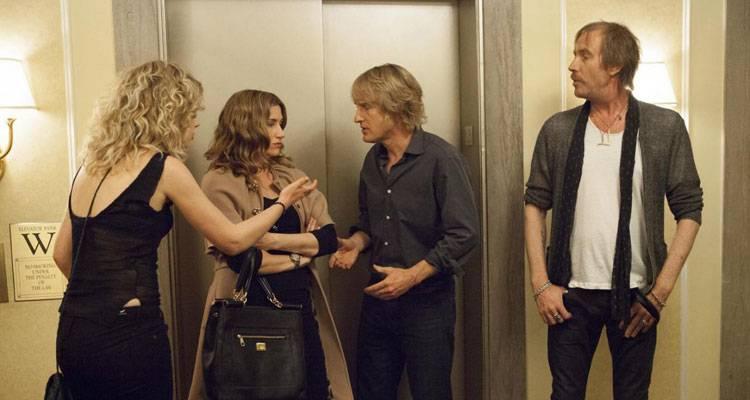 Imagen Poots, Kathryn Hahn, Owen Wilson y Rhys Ifans en 'Lío en Broadway'