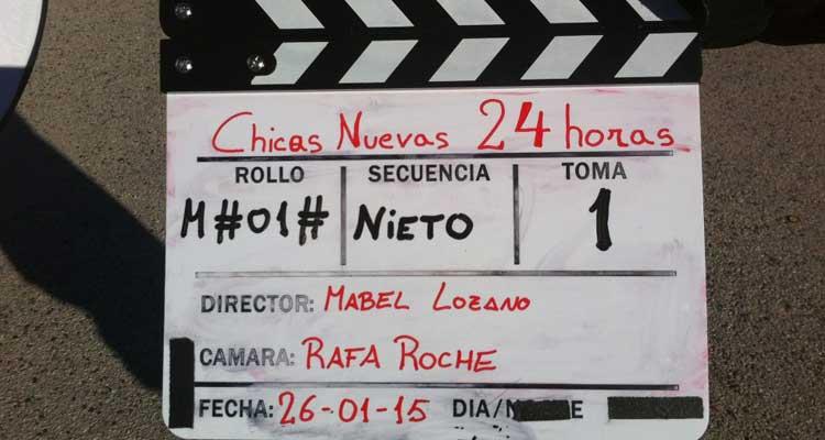 Imagen del rodaje del documental de Mabel Lozano 'Chicas nuevas 24 horas'