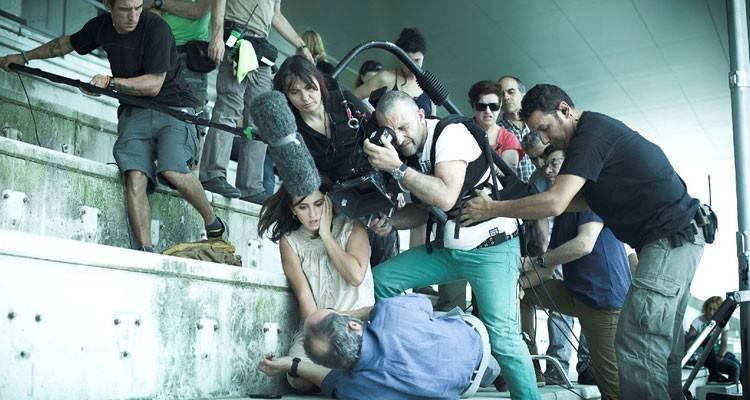 Foto Luis Tosar, Penélope Cruz, Julio Medem en el rodaje de 'Ma ma'