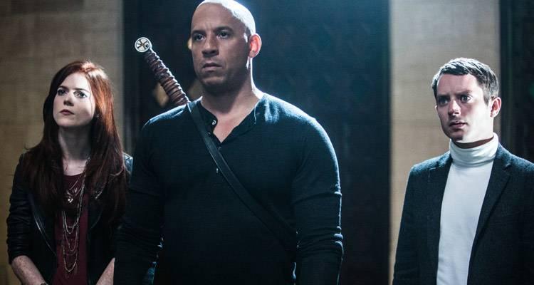Rose Leslie, Vin Diesel y Elijah Wood en la película 'El último cazador de brujas'