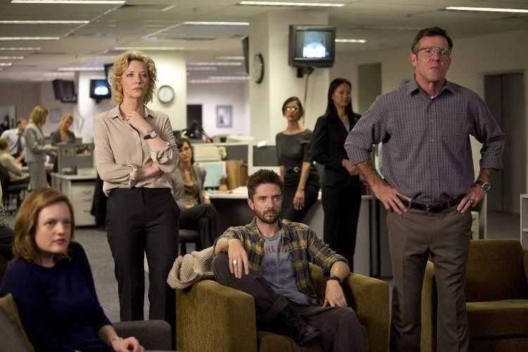 Cate Blanchett, Dennis Quaid y Topher Grace en la película 'La verdad' (2015)
