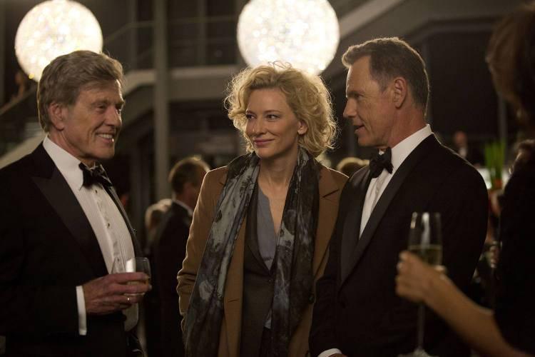 Cate Blanchett, Robert Redford y Bruce Greenwood en la película 'La verdad' (2015)