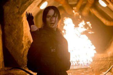 Katniss Everdeen (Jennifer Lawrence) en Sinsajo Parte 2