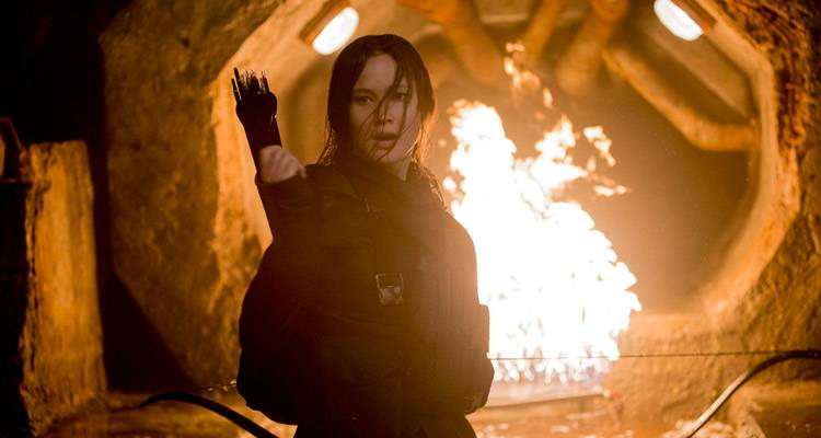 Katniss Everdeen (Jennifer Lawrence) en Sinsajo Parte 2
