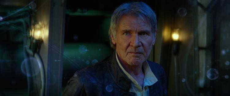 Han Solo (Harrison Ford) en Star Wars El despertar de la Fuerza