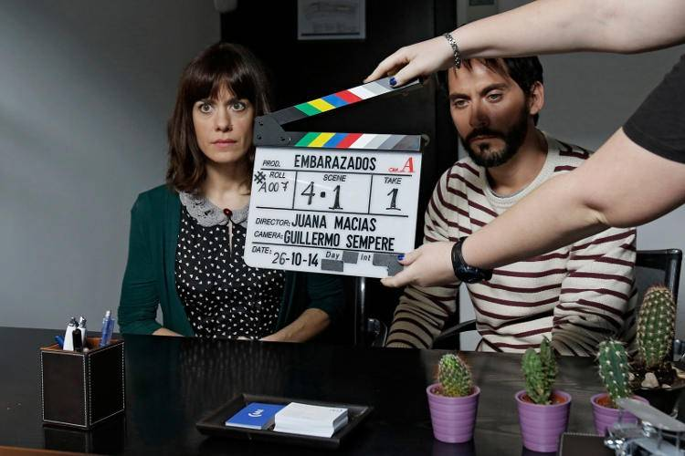 Paco León y Alexandra Jiménez durante el rodaje