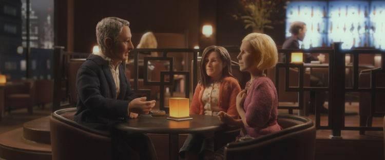 David Thewlis interpreta a Michael Stone, Jennifer Jason Leigh es Lisa Hesselman y Tom Noonan David Thewlis interpreta a Michael Stone, Jennifer Jason Leigh es Lisa Hesselman y Tom Noonan pone el resto de las voces de la película, incluyendo a Emily, que está sentada en la mesa.