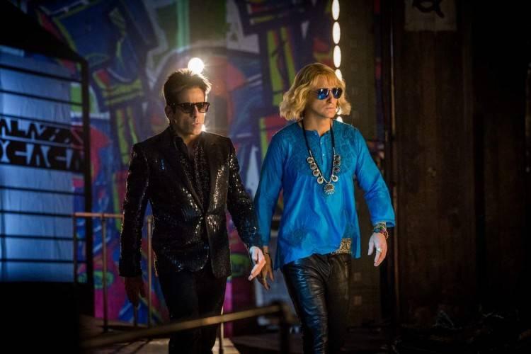 Derek Zoolander (Ben Stiller) y Hansel (Owen Wilson) en la pasarela.