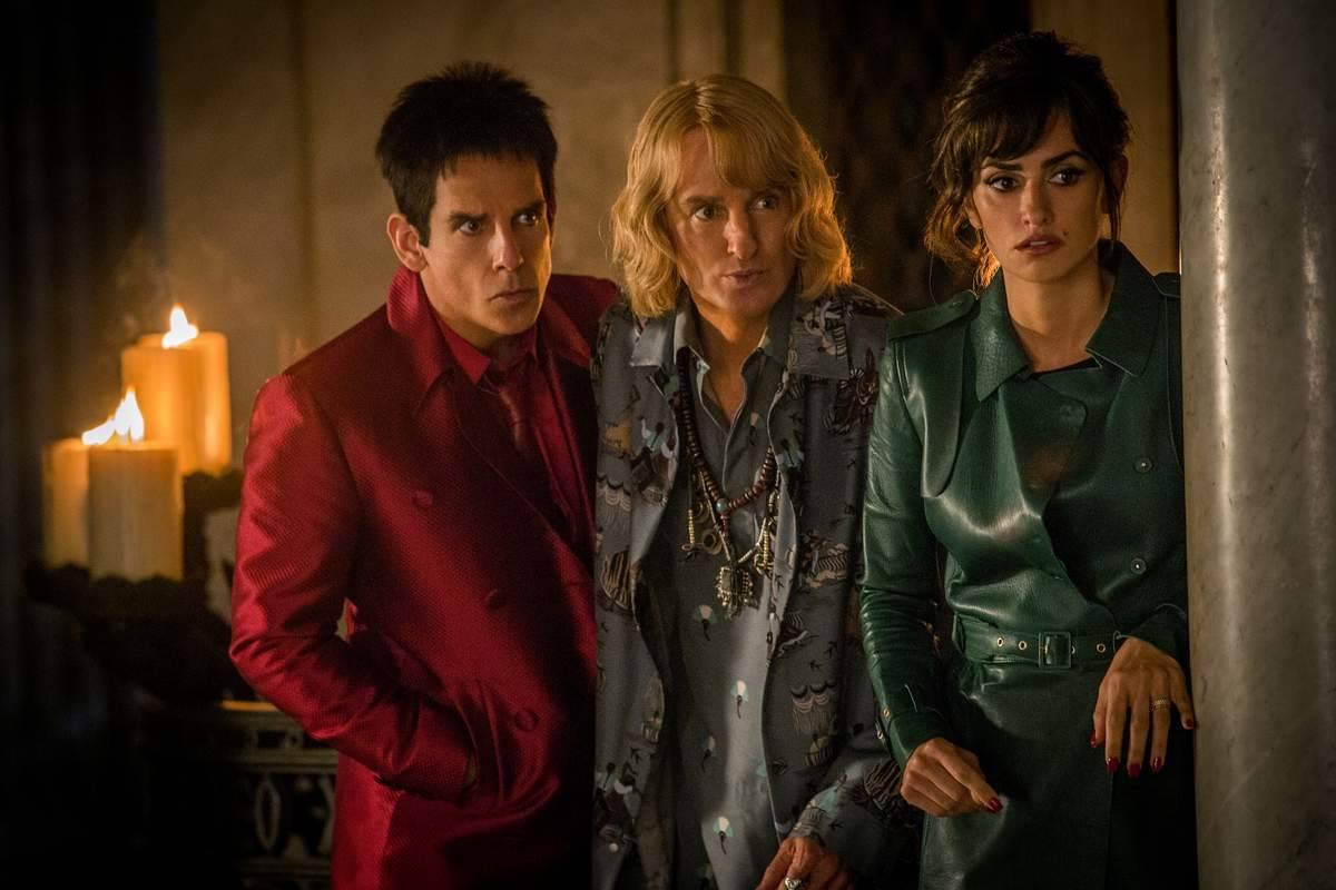 Ben Stiller es Derek Zoolander, Owen Wilson es Hansel y Penelope Cruz es Valentina Valencia - Critica Zoolander 2