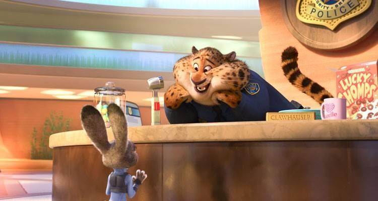 Judy Hopps con uno de sus compis de oficina
