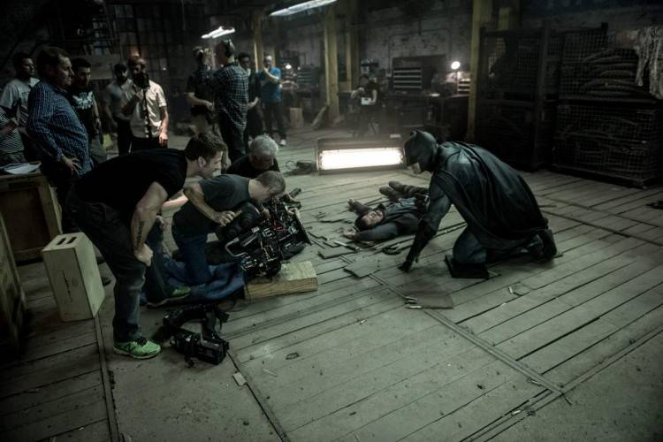 Escena de rodaje de la película Batman V Superman: El amanecer de la justicia