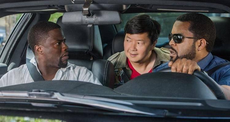 Kevin Hart, Ken Jeong e Ice Cube en una imagen de la película