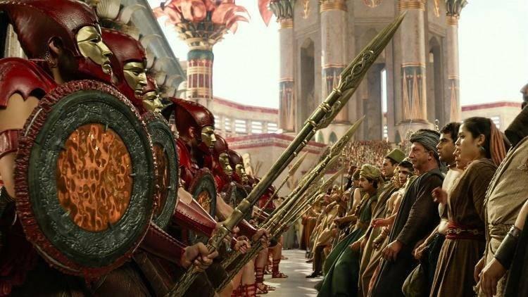 El ejército de Seth intimidando a los egipcios
