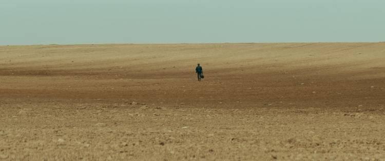 Campos en una escena de la película