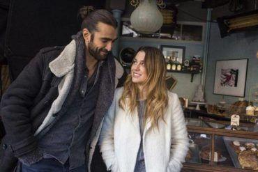 Blanca Suárez y Aitor Luna durante el rodaje de 'Mi panadería en Brooklyn'