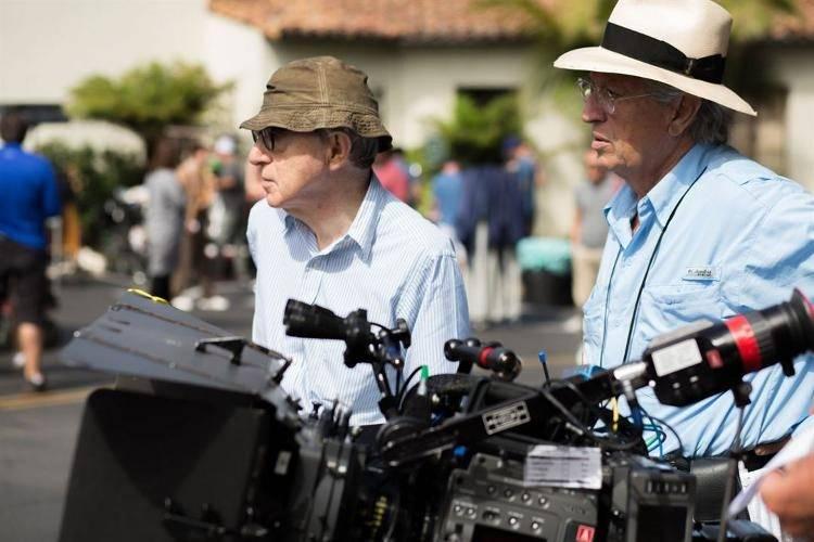 Woody Allen junto al director de fotografía Vittorio Storaro