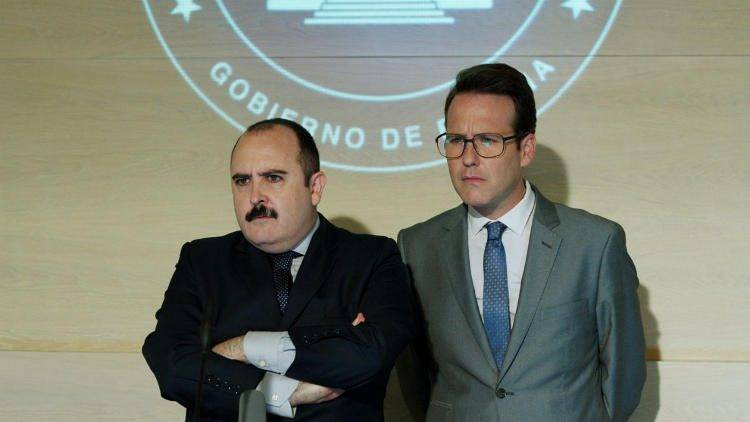 Carlos Areces es el Ministro de interior Boyero y Joaquín Reyes su secretario