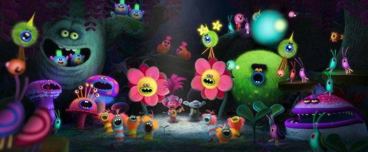 El universo de Trolls: colorido, disparatado y muy musical