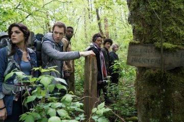 James Allen McCune, Valorie Curry y Wes Robinson apunto de entrar en el bosque de 'La bruja de Blair'