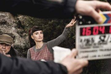 Penélope Cruz en el rodaje de la película