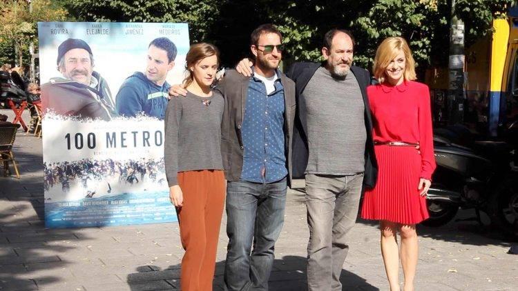 Alba Ribas, Dani Rovira, Alexandra Jiménez y Karra Elejalde en la presentación de la película