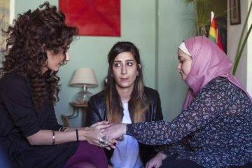 Mouna Hawa, Sana Jammelieh, y Shaden Kanboura en Bar Bahr