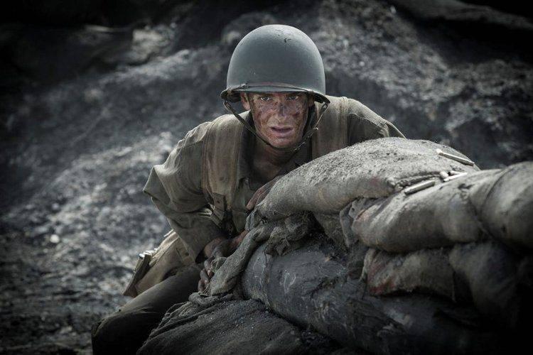 Andrew Garfield en una fotografía del rodaje de Hasta el último hombre