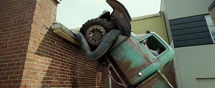 """El """"monstruo camioneta"""" en acción"""